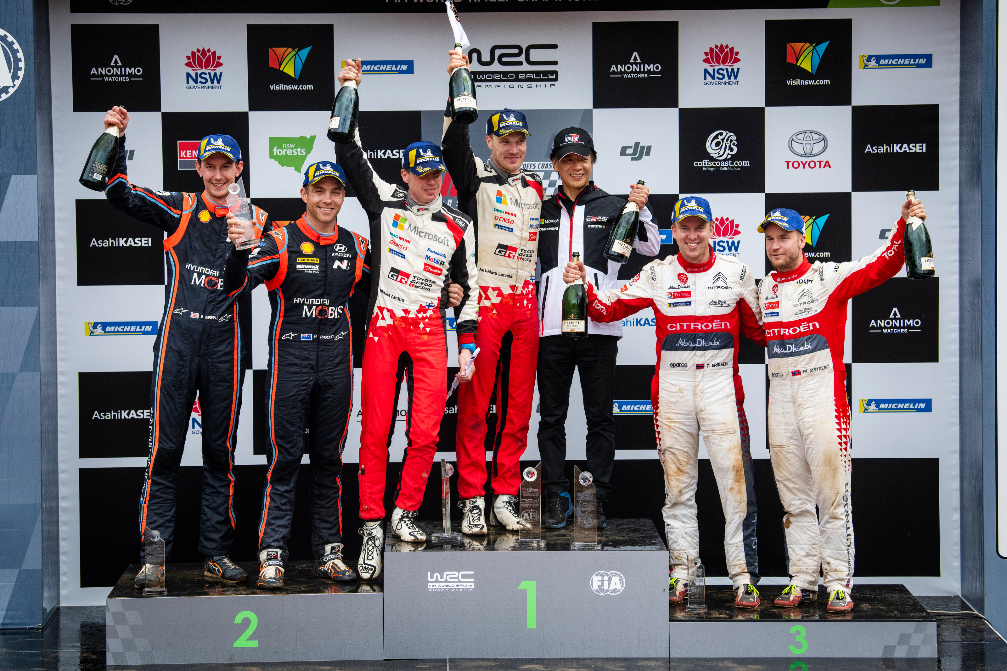 """WRC - Ogier: """"We made it after definitely the toughest fight we had to do."""""""