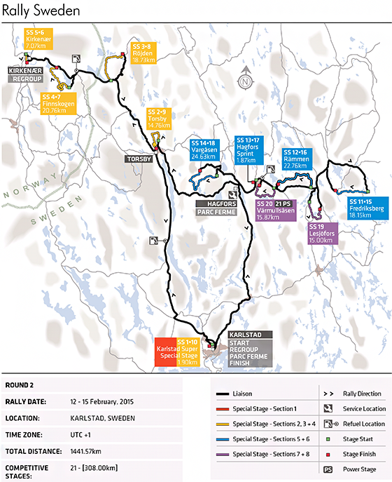 Rally Sweden Preview Federation Internationale De L - Rally sweden map 2016