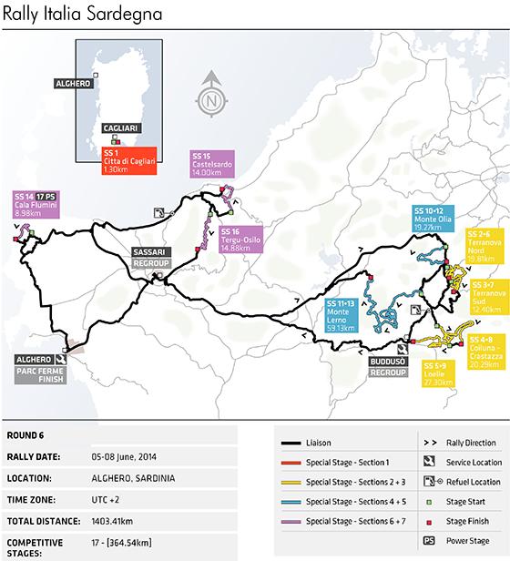 Rally Italia Sardegna Preview Federation Internationale - Wrc sweden 2015 map