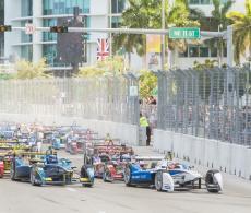 2015 Formula E Miami ePrix - Start - DPPI
