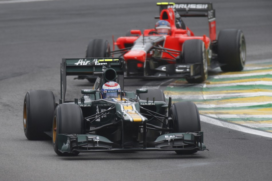 Vitaly Petrov and Charles Pic at Interlagos