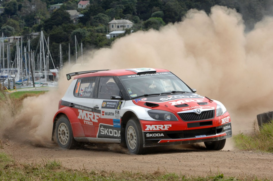 Czech Republic driver Jan Kopecký set fastest time at shakedown – ahead of this year's two day VINZ International Rally of Whangarei. Photo: Euan Cameron