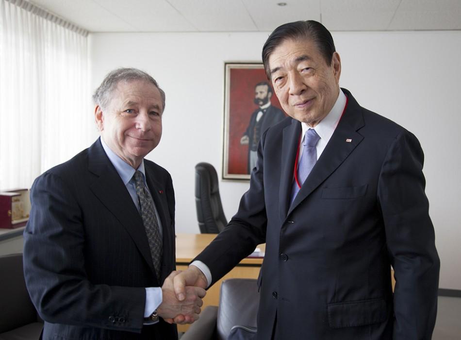 FIA President Jean Todt and IFRC President Tadateru Konoé