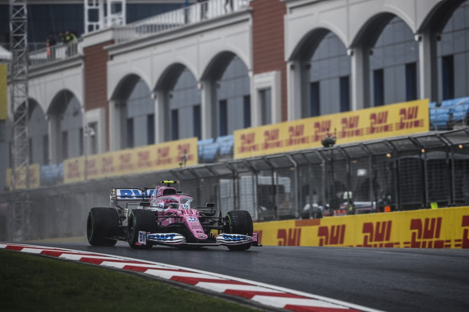 F1 Stroll Takes First Career Pole Position In Unpredictable Wet Turkish Gp Qualifying Federation Internationale De L Automobile