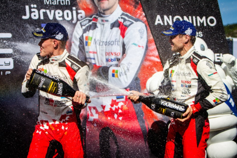 2019 WRC - Rally of Spain - 2019 WRC Champions O. Tänak / M. Järveoja