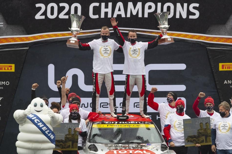 2020 WRC - ACI Rally Monza - WRC2 winners M. Ostberg/T. Eriksen (Photo DPPI)
