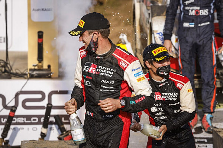 2021 WRC - Safari Rally Kenya - Sébastien Ogier, Takamoto Katsuta at the final Prize Giving, Naivasha (DPPI Media)