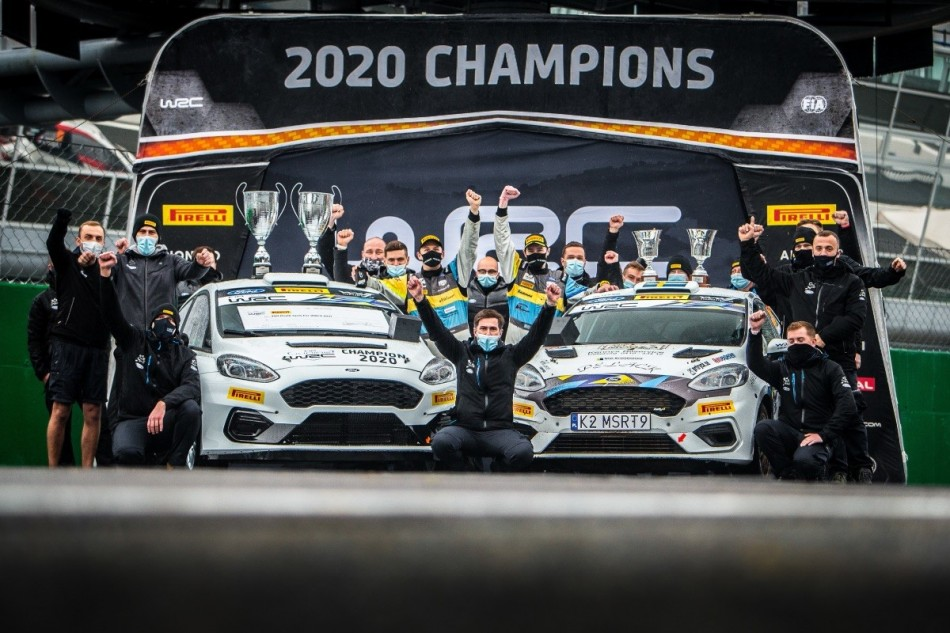 2020 Junior WRC Champions at ACI Rally Monza