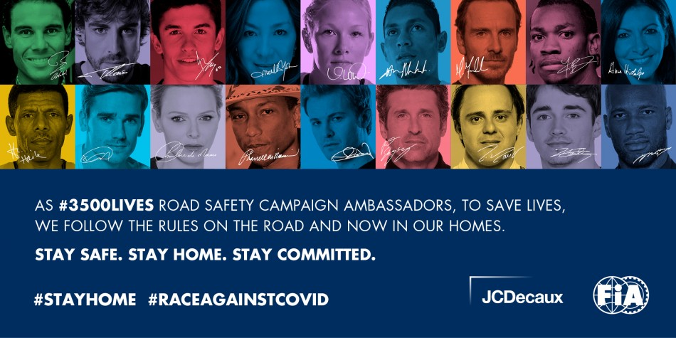 3500LIVES, road safety, COVID-19, stay home