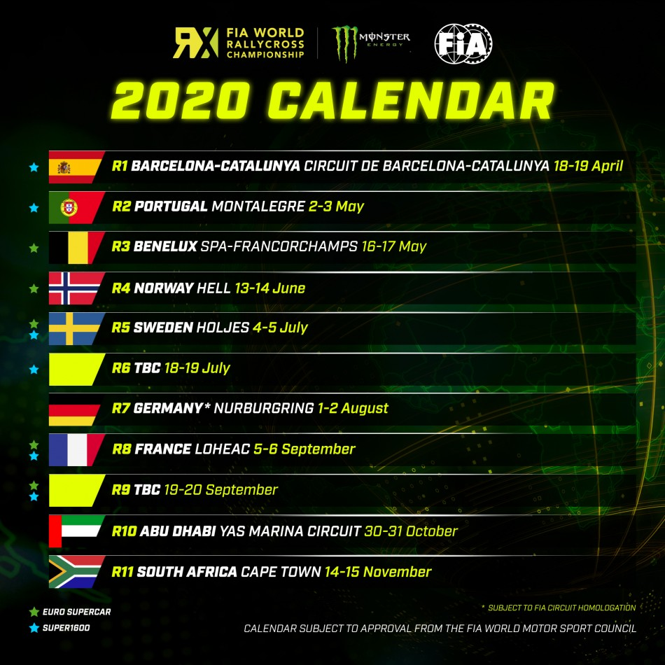 Calendrier Rallycross France 2020.Wrx Le World Rx Poursuit Son Expansion Audacieuse Avec Le