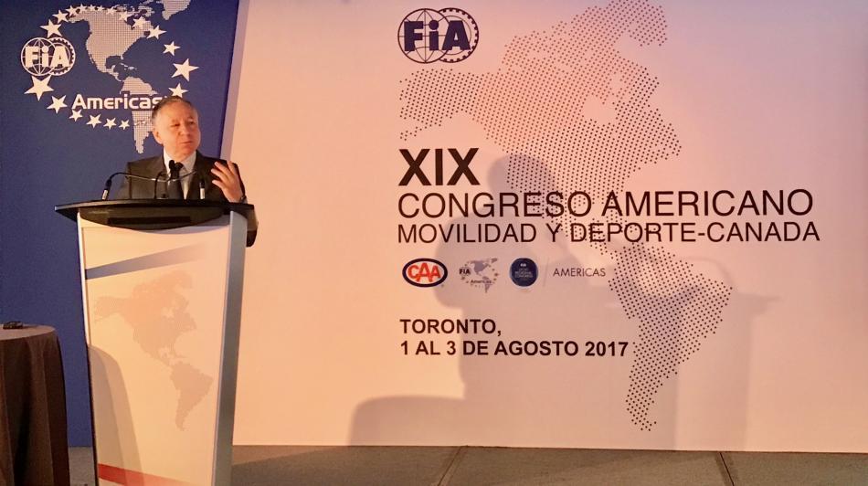Jean Todt, Congress of Americas