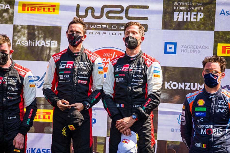 2021 Rally Croatia - Final Podium - Seb Ogier & Julien Ingrassia