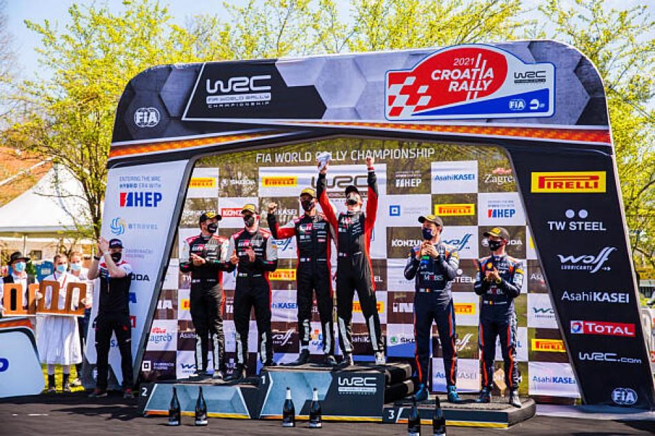 2021 Rally Croatia - Final Podium