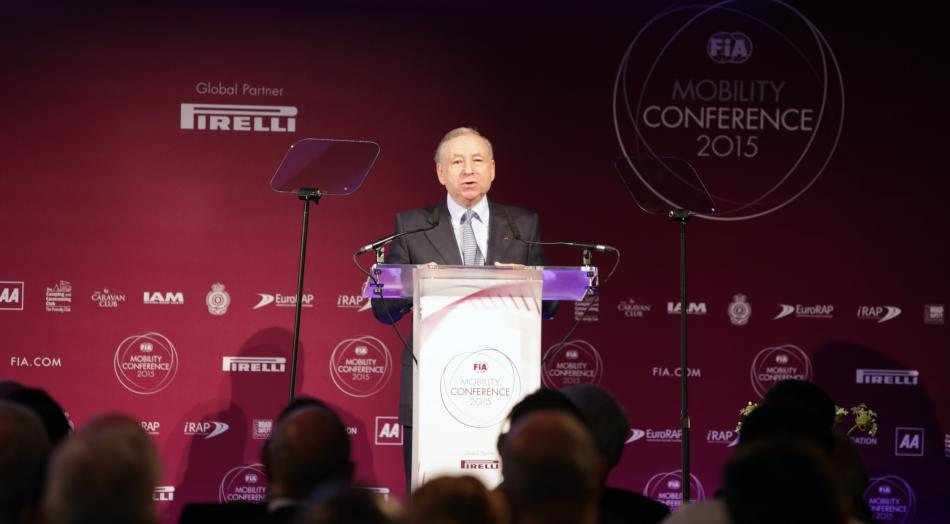 Jean Todt Opening 2015 Mobility conference