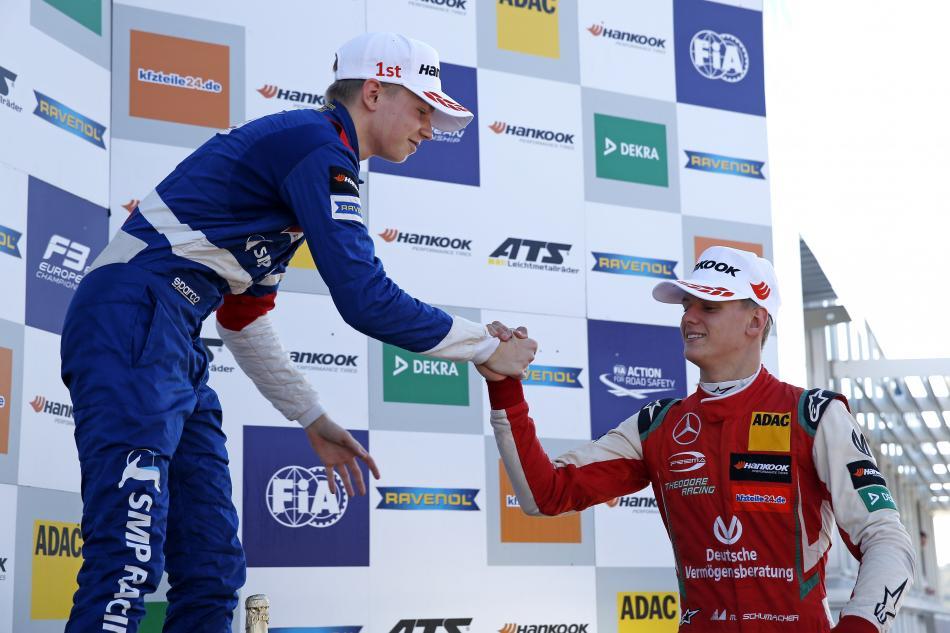 F3 – Top rookie Shvartzman wins final race of the season at Hockenheim podium race 3