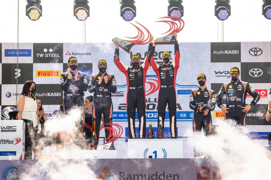 2021 WRC - Rally Estonia - FInal podium (DPPI Media / N. Katikis)
