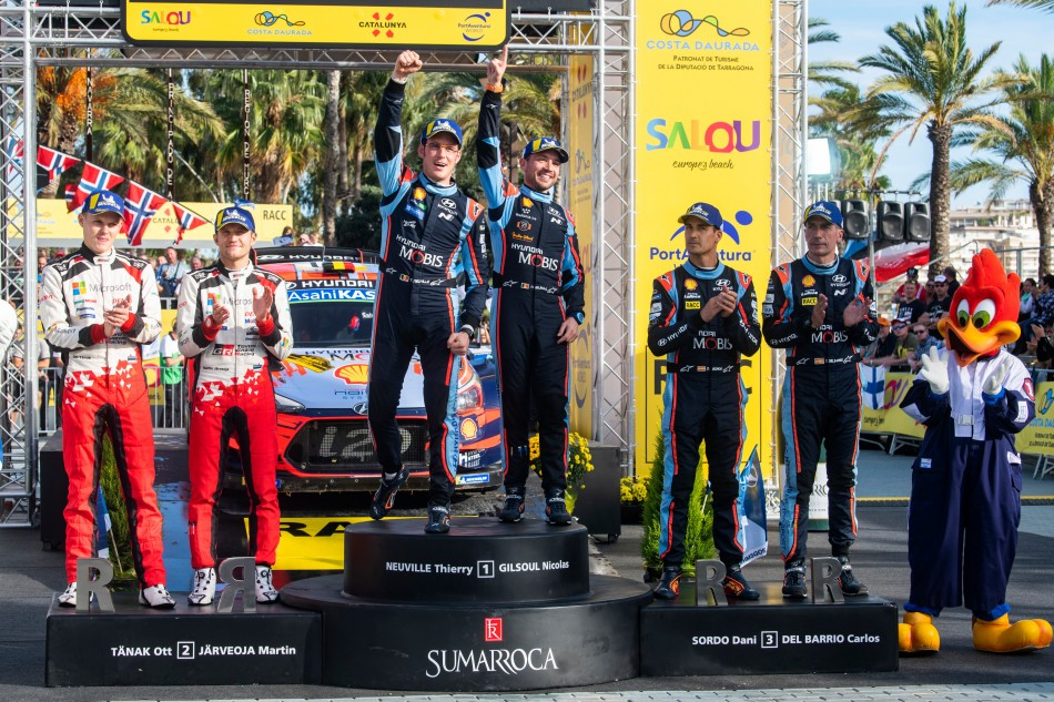 2019 WRC - Rally of Spain - Final podium
