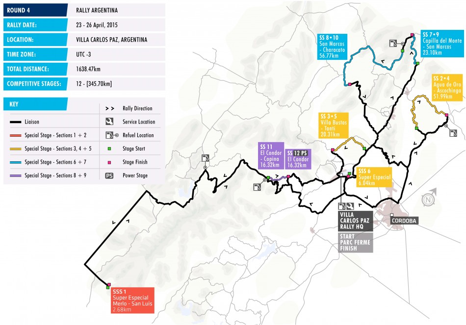Rally Argentina Stage Map Federation Internationale De L - Argentina map in world