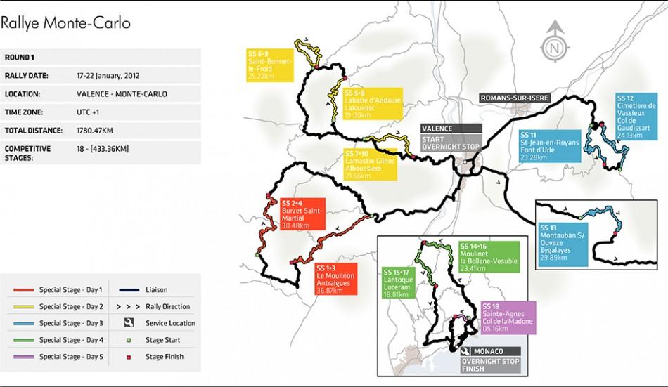 Rallye Monte Carlo Stage Map Federation Internationale de l