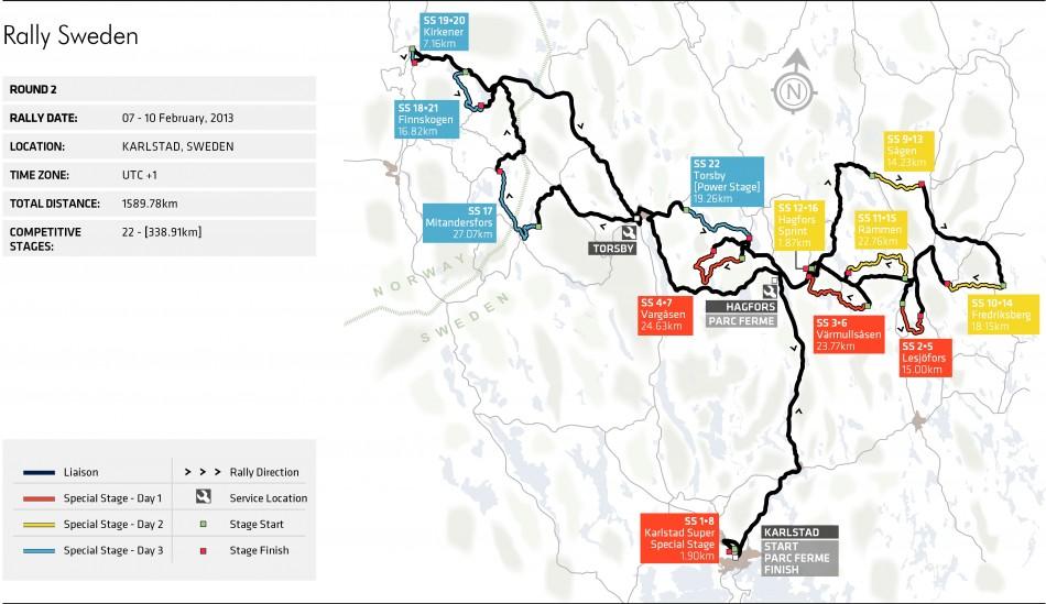 Rally Sweden Stage Map Federation Internationale De LAutomobile - Sweden map pdf
