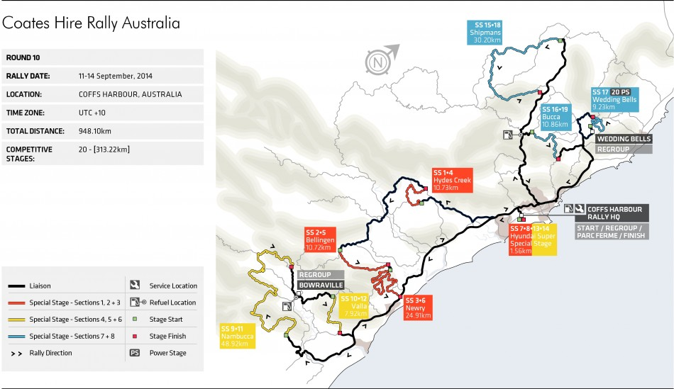 Rally Australia Stage Map Federation Internationale de lAutomobile