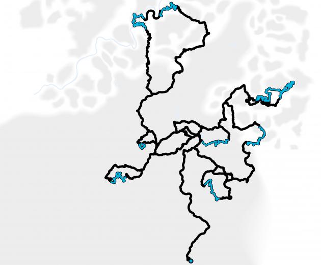 2017 ADAC Rallye Deutschland - Stage Map