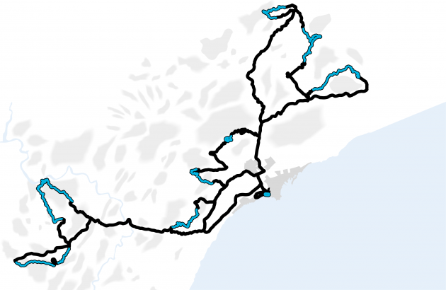 2017 Rally Espana Route Map