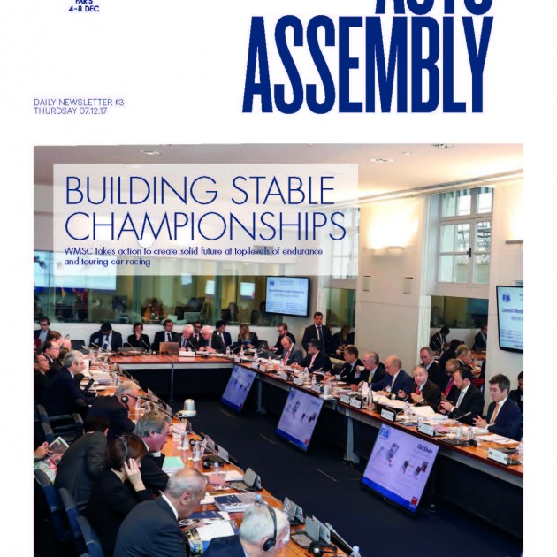 2017 FIA Annual General Assembly - Day 3 Newsletter