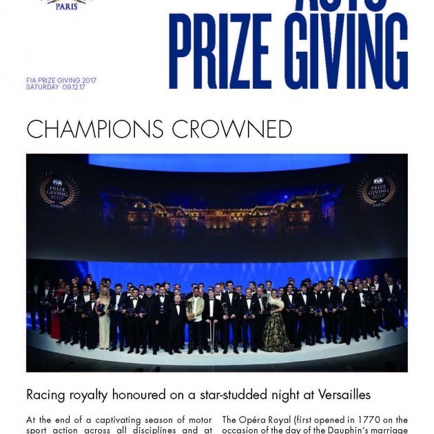 2017 FIA Prize Giving