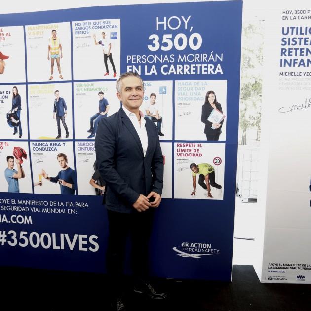 FIA, road safety, Mexico City, Mexico ePrix, #3500LIVES