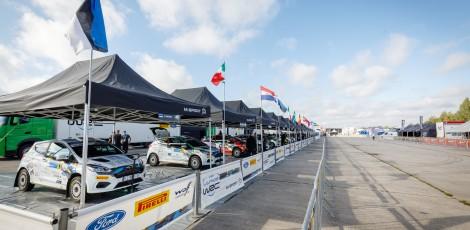 2020 WRC - Rally Estonia - Junior WRC team area on Service Park