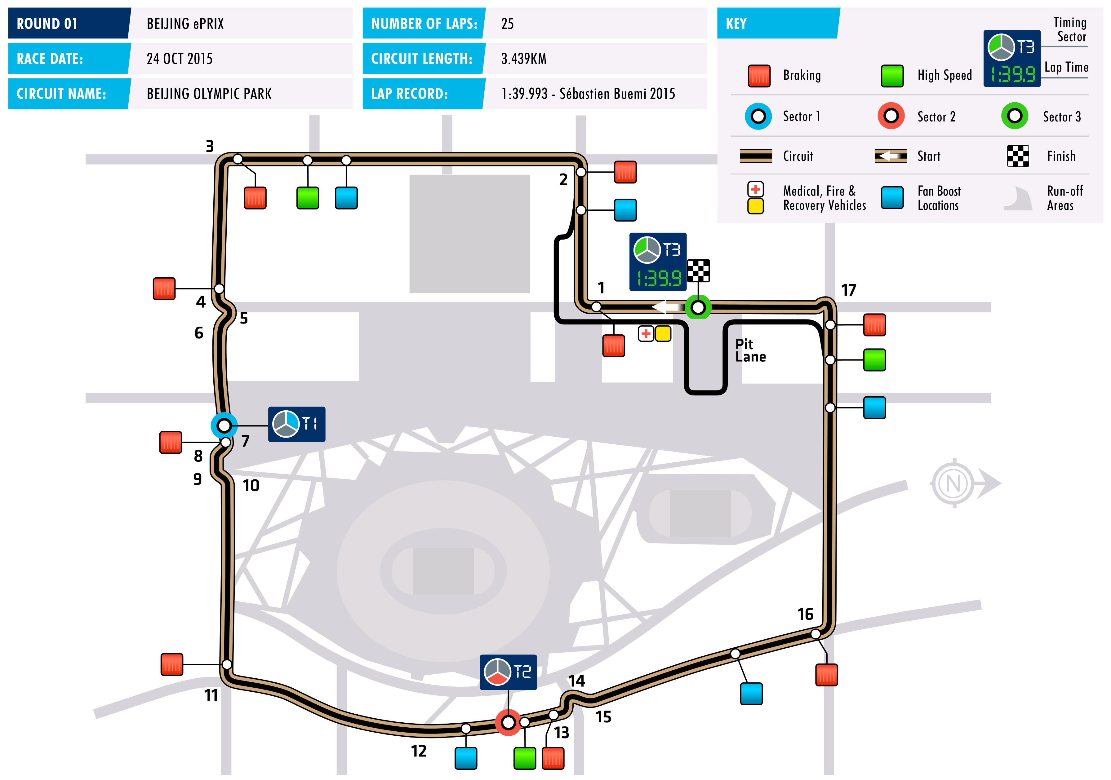 2016 Beijing ePrix - Circuit Map