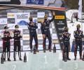 2021 WRC - Arctic Rally Finland - Final podium (Photo Nikos Katikis / DPPI)
