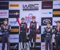 2021 WRC - Rally Finland - Final podium