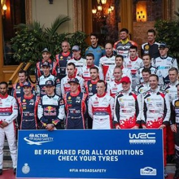 #WRC drivers support the FIA Action for Road Safety campaign at the Rallye Monte-Carlo #RAMC2017 #RoadSafety @officialwrc #Motorsport #Racing