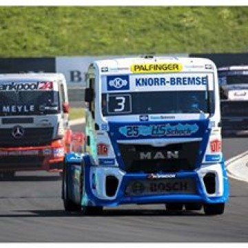 #ETRC An eventful pair of races at the #Hungaroring on Sunday afternoon saw title rivals Jochen Hahn and Adam Lacko take victories as they continue their battle for the 2016 @fia.etrc crown #Truck #Hungary #Budapest #Jochen #Hahn #motorsport #winner