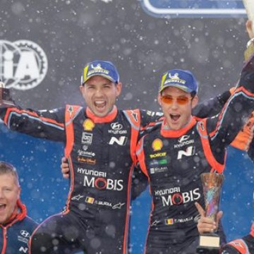 #WRC - @thierryneuville & @nicolasgilsoul won #RallySweden 🇸🇪 ❄️ to become only the third non-Nordic crew to claim victory in 66 editions of the Scandinavian classic. #Motorsport #Racing