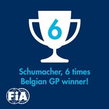 #F1 Debut in @f1, first win in #F1, most wins in the #BelgianGP: many figures make #Spa a special place for Michael #Schumacher, who was crowned here F1 World Champion for the seventh and last time in his career. In 16 participations to the Belgian GP, #Michael won six times: in 1992 (#Benetton), 1995 (#Benetton), 1996 (#Ferrari), 1997 (#Ferrari), 2001 (#Ferrari) and 2002 (#Ferrari). He was 2nd three times and finished in the points three times. In 1994 he finished 1st but was disqualified after the end of the race. In his debut race in 1991 Michael was forced to retire 500 metres after the start because of a clutch failure, in 1998 he was comfortably leading the race when he hit #Coulthard, in 2005 he was hit by #Sato at the start and had to retire. And in 2002 and 2006 the Belgian Grand Prix did not take place... #f1 #formulaone #formula1 #Michael #Schumacher #memories