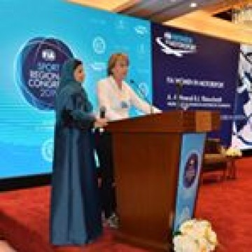 @aseel.alhamad , board member of the Saudi Arabian Motor Federation and @juttakleinschmidt , President of the FIA Cross Country Rally Commission and member of the WIM Commission represented women in motorsport at the MENA Regional Congress in Kuwait.  #SportRegionalCongress  #fia #fiawim #womeninmotorsport #congress