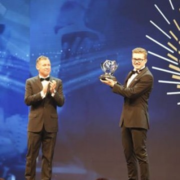 """The FIA Rookie of the Year for 2016 is @fiaworldrx driver and FIA European Rallycross Champion @kevinhansen71. The title is voted for by the FIA Drivers' Commission – it's President is """"Mr Le Mans"""" @tomkristensen_com, who was on hand to present he trophy. #Motorsport #Racing #FIAPrizeGiving"""