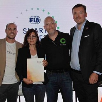 Congrats to Wavelite for winning the #FIASmartCities Start up Global Contest in Montreal #MontrealePrix @fiaformulae