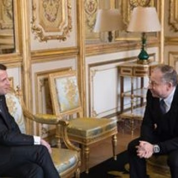 Today, FIA President Jean Todt met with French President @emmanuelmacron to discuss #RoadSafety issues and the strength of #motorsport in France
