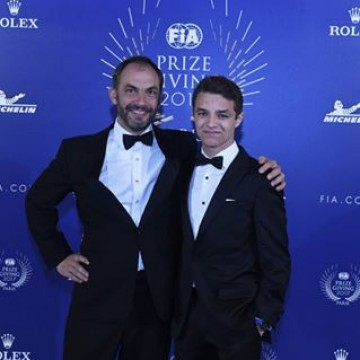 #FIAPrizeGiving - Lando Norris received his two #FIA trophies, @fiaf3europe European Champion and FIA F3 Rookie Champion. Congratulations. . . . #motorsport #racing #rookie