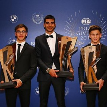 CIK-FIA World Champions received their trophies at the #FIAPrizeGiving in #Vienna last night. From L to R @pedrohiltbrand OK champion @deckpaolo KZ champion and @vmartins_29 OKJ champion #Karting #Motorsport #Racing