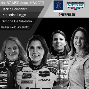 Weekend news:  We got some good news last Friday: Four dynamic female drivers racing in the United States hope to take the 2019 IMSA WeatherTech SportCar Championship by storm with a ground-breaking team! @katherineracing @simonadesilvestro @biaracing @racer_jackie